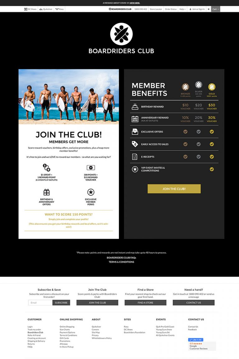 DDM Website Portfolio - Membership Benefits Landing Page