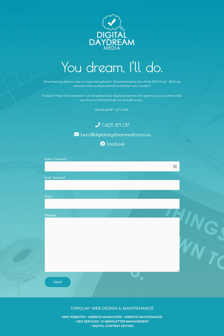DDM Website Portfolio - Torquay Websites Landing Page