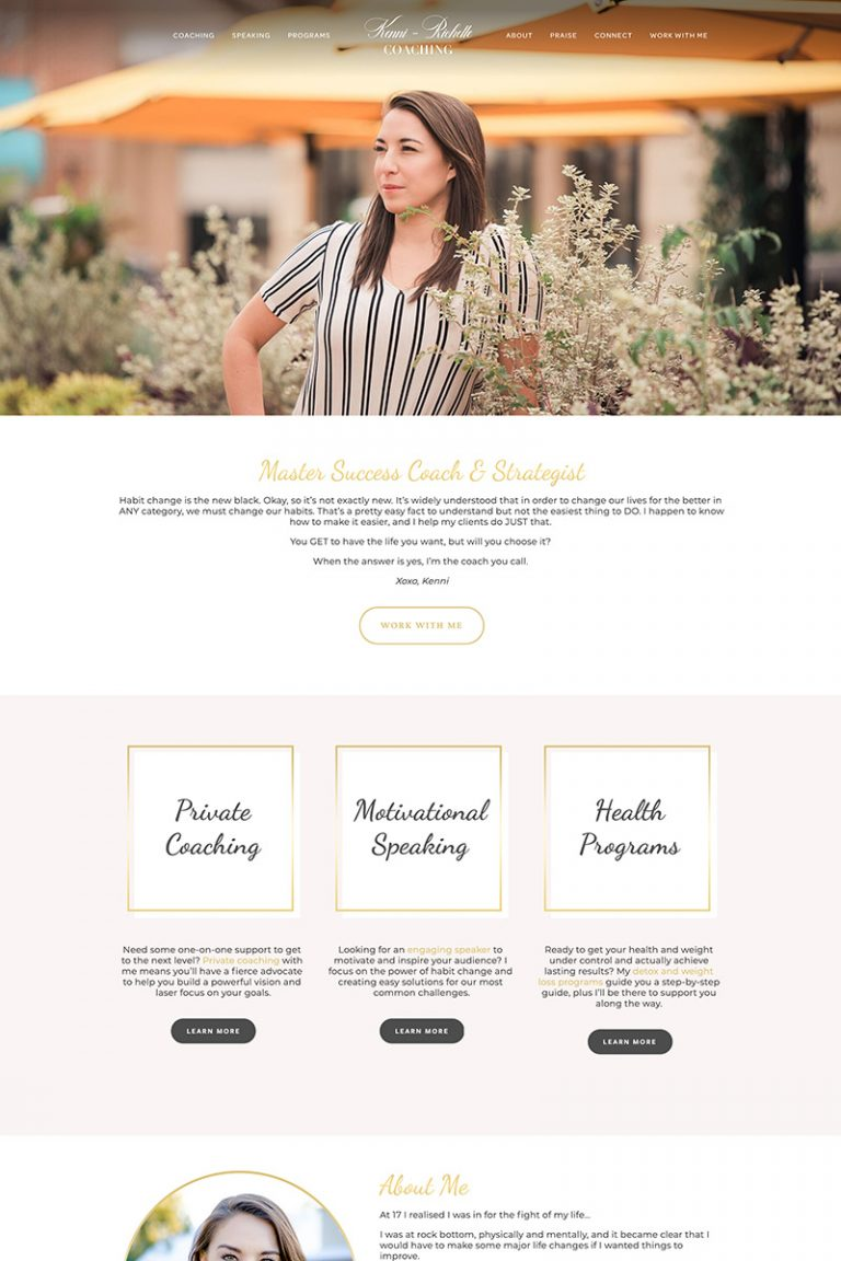 DDM Website Portfolio - Kenni Richelle Coaching USA