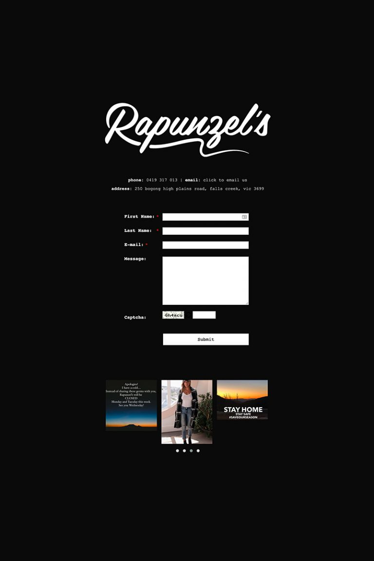 DDM Website Portfolio - Rapunzels Gallery Falls Creek