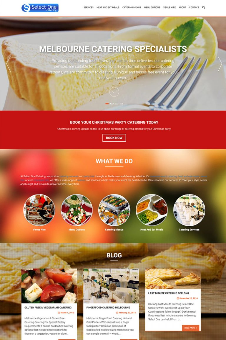 DDM Website Portfolio - Select One Catering Werribee