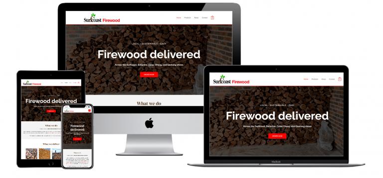 DDM Website Portfolio - Surfcoast Firewood Mockups