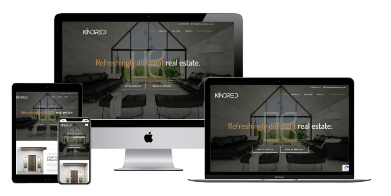 Kindred Real Estate Website- Web Design Torquay