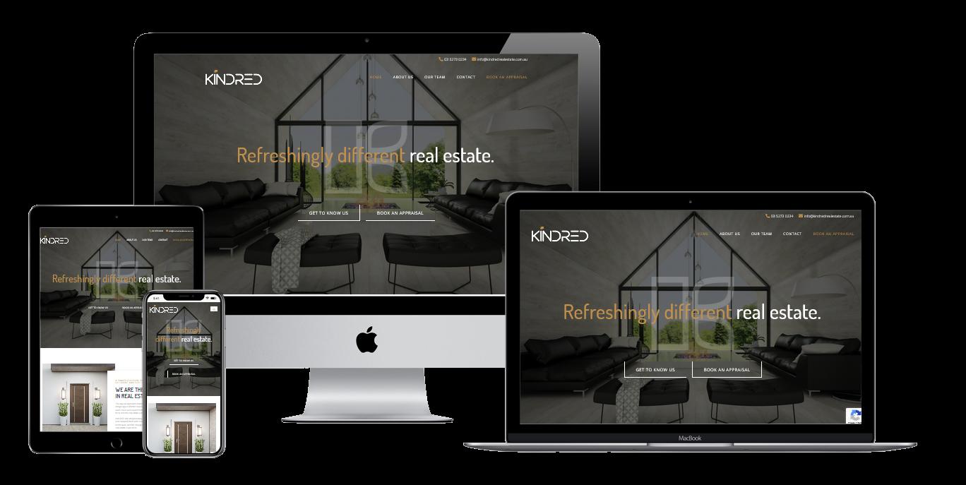 Kindred Real Estate Website- Web Design Torquay